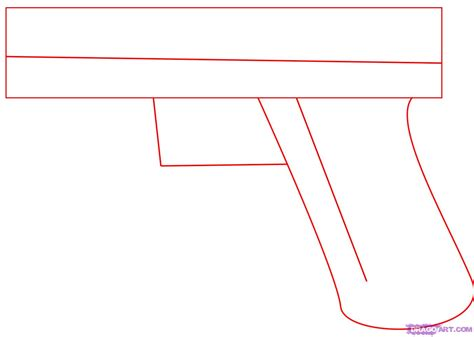 How To Draw A Gun Step By Step step 1 how to draw a glock 17 9mm gun