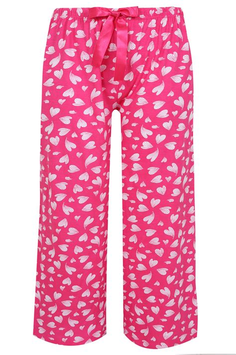 Piyama Size 7 pink print pyjama length bottoms plus size 14 to 36