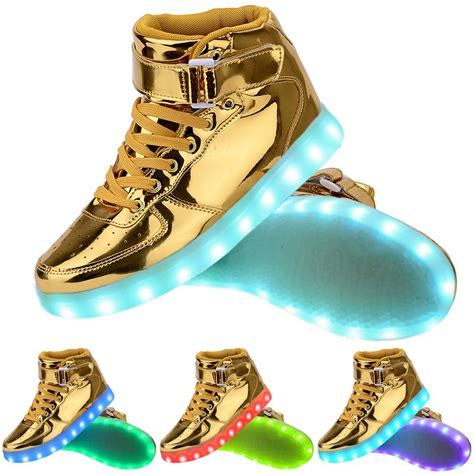 free light up shoes high top usb charging led light up shoes