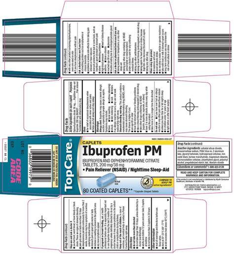 ibuprofen side effects in detail drugscom topcare ibuprofen pm fda prescribing information side