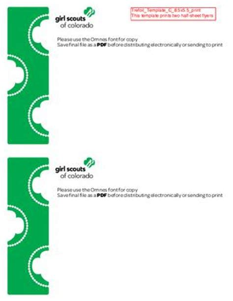girl scout templates for flyers girl scout flyer template pictures to pin on pinterest