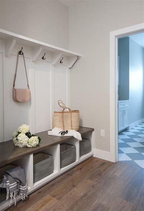 oak wood floors accent gray walls highlighting  white