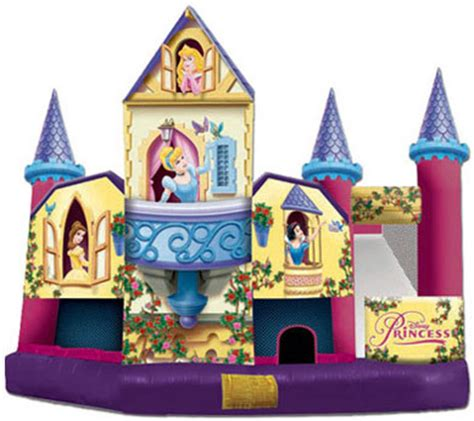 disney princess 3d slide combo bouncy castle + free