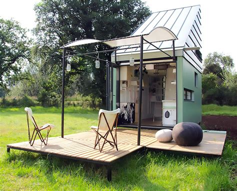 pod tiny house solar powered pod idladla is a tiny flat pack home for two