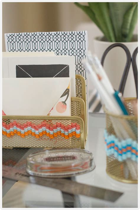 Diy Office Desk Accessories by Diy Last Stitch Effort Camille Styles