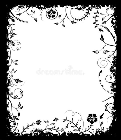 floral grunge frame elements royalty free vector image grunge frame flower elements for design vector stock vector image 1210454