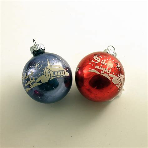 vintage glass christmas ornaments shiny brite
