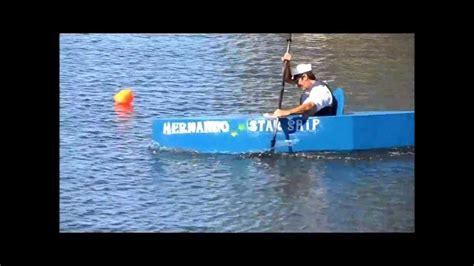cardboard boat race florida hernando beach cardboard boat race youtube