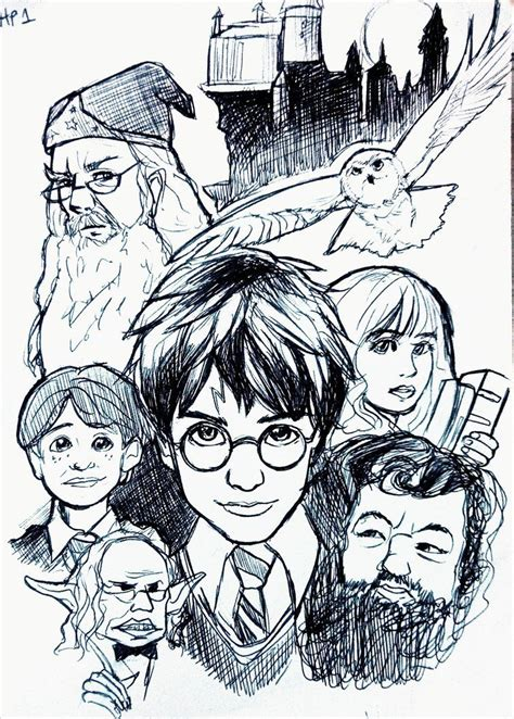 harry potter coloring book cover harry potter and the philosophers coloring pages