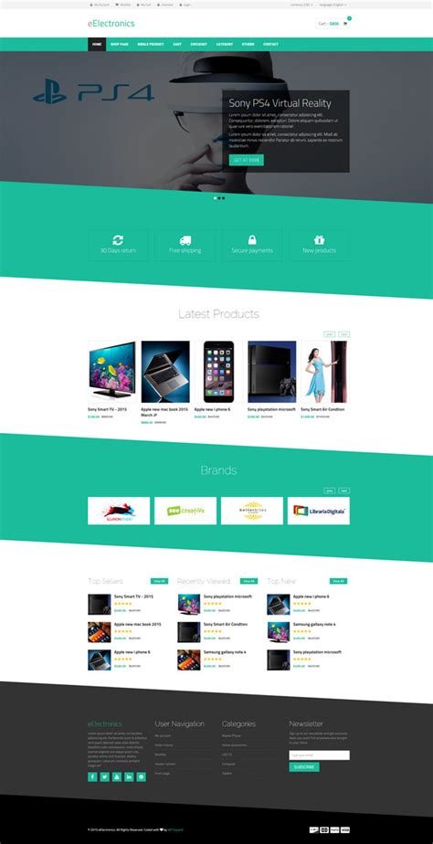 design free ecommerce website 25 best html ecommerce website templates free premium