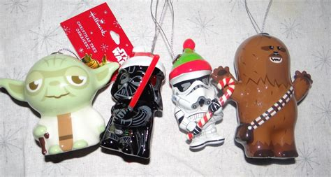 2015 star wars hallmark christmas ornaments set of 4 darth