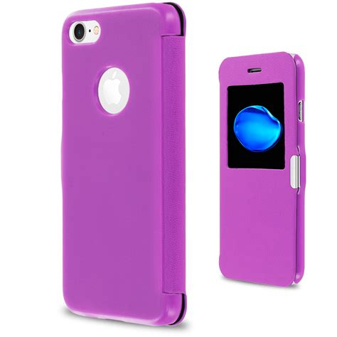 Flip Cover Wallet Iphone 7 purple window slim wallet magnetic flip cover for apple iphone 7 casedistrict