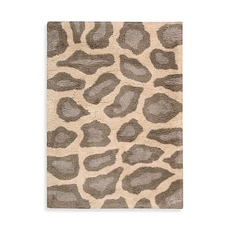 animal print bath rugs nourison splendor leopard print rug in beige bed bath beyond