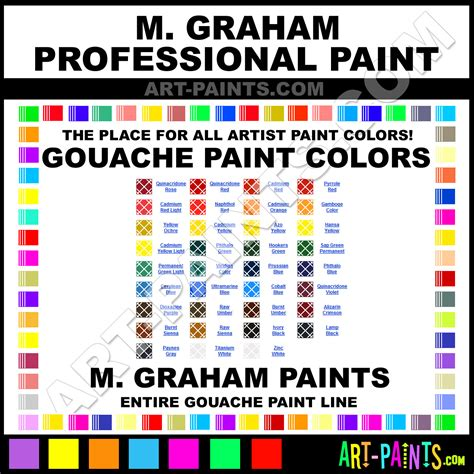 m graham professional gouache paint colors m graham professional paint colors professional