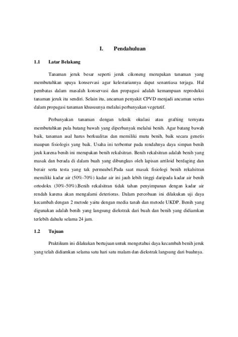 susunan membuat laporan praktikum makalah 61 laporan praktikum benih rekalsitran
