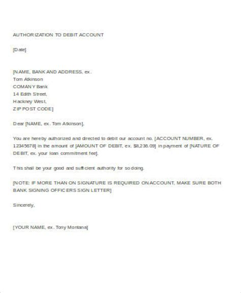 authorization letter to terminate account sle of authorization letter to open a bank account
