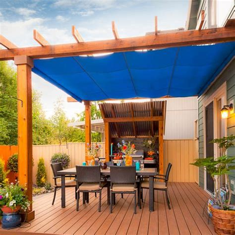 retractable awnings for tempering weather