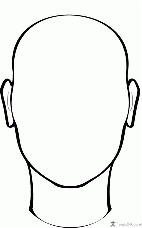 blank face coloring page coloring home