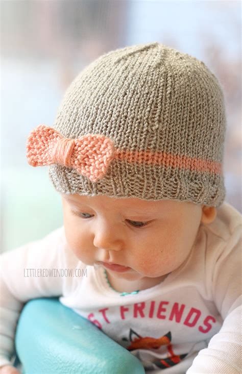 baby hat bow baby hat knitting pattern window