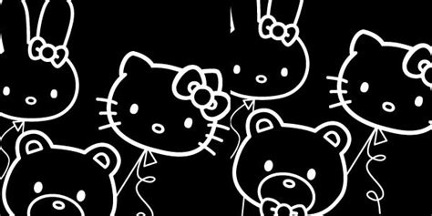 wallpaper hello kitty black and white 55张可爱的hello kitty桌面壁纸 创意悠悠花园
