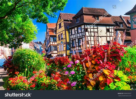 most beautiful town in france colmar in alsace most beautiful colorful towns colmar alsace stock photo