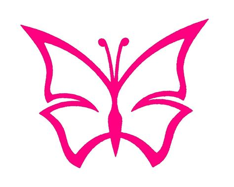 butterfly outline tattoo pin simple butterfly outline decal pink
