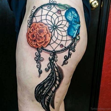 thigh dreamcatcher tattoo designs 78 graceful dreamcatcher tattoos on thigh