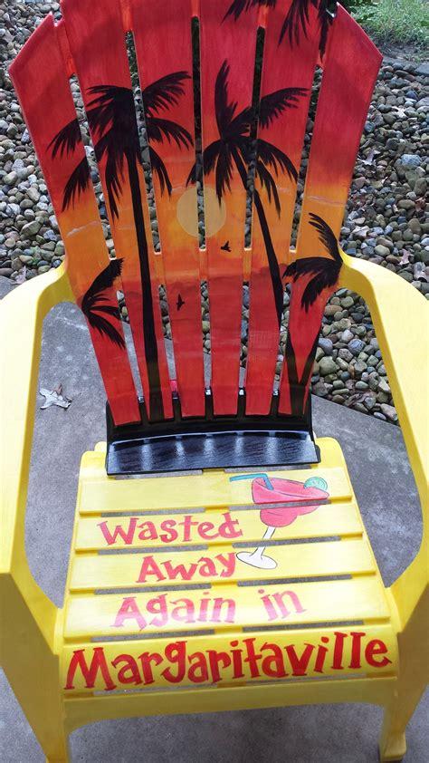 jimmy buffett themed adirondack chair hand painted
