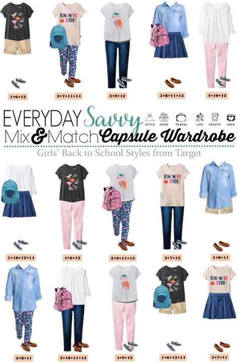 back to school capsule wardrobe mix and match