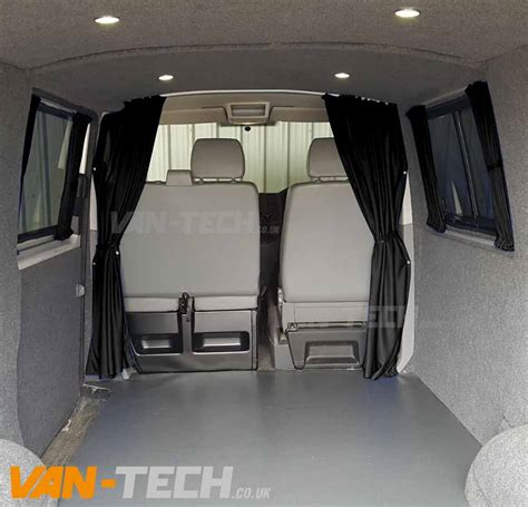 vw transporter 6 interieur vw t6 van transporter interior cab divider curtain van tech