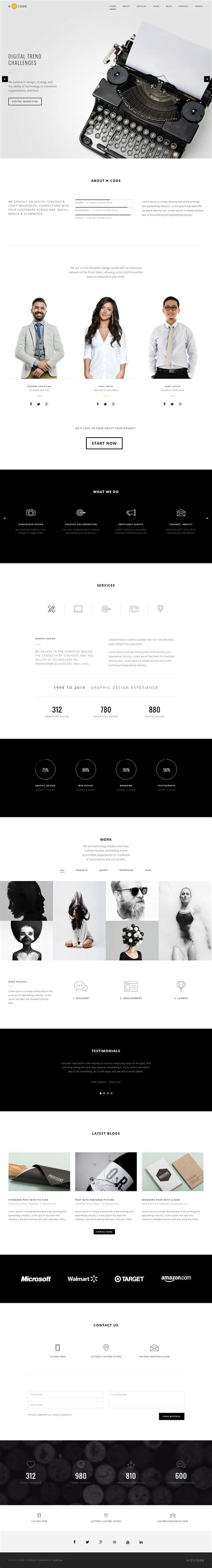 40 best html5 one page website templates 2017 responsive