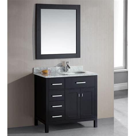best deals bathroom vanities london 36 inch single sink espresso 4 drawer vanity set
