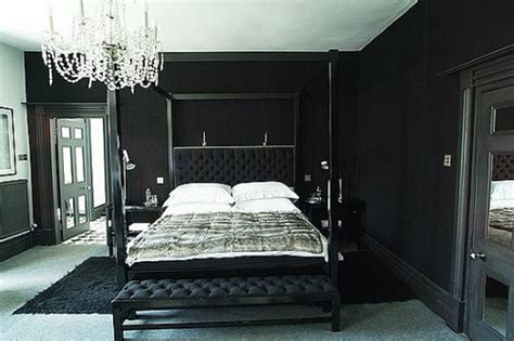 interior design of bedroom in black and decobizz