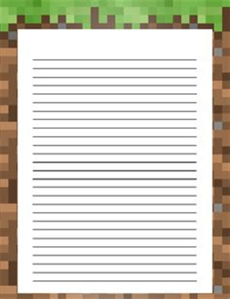 printable minecraft writing paper 1000 images about minecraft on pinterest minecraft
