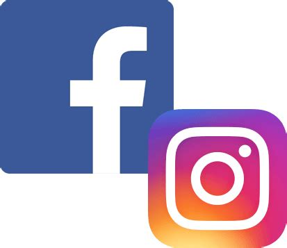 facebook instagram logos transparent facebook and instagram logo clear background pictures to