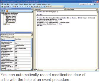 record the last modified date internally(excel 2003, 2007