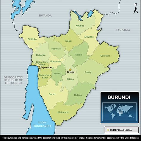 africa map burundi unicef humanitarian for children 2011 burundi
