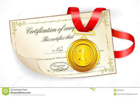 Gift For Architecture Student medal on certificate stock photos image 26256873