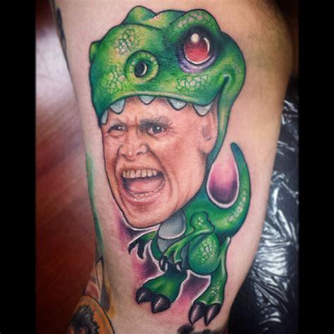 gary busey saurus rex by me josh herman mayday tattoo