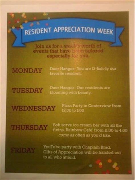 Activity Director Craft Event Ideas Resident Appreciation Week September 15 19 2015 Resident Appreciation Week Flyer Template