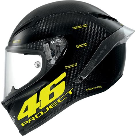 Helm Agv Racing agv pista gp project 46 carbon fiber fullface motorcycle race helmet