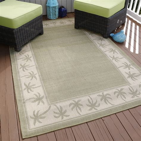 Kmart Outdoor Rug Lavish Home Palm Trees Indoor Outdoor Area Rug Green 5 X7 7 Quot