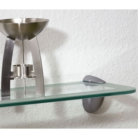 Floating Shelf Glass by Two Tone Floating Glass Shelf In Wall Mounted Shelves