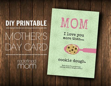 diy mother s day card customizable diy printable mother s day card
