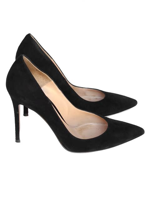 Pointy Toe High Heel Pumps louise gianvito black suede high heel pointy