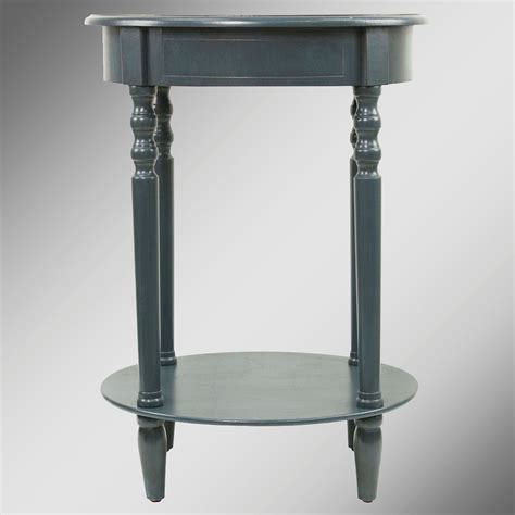 Navy Side Table Reigna Navy Oval Accent Table