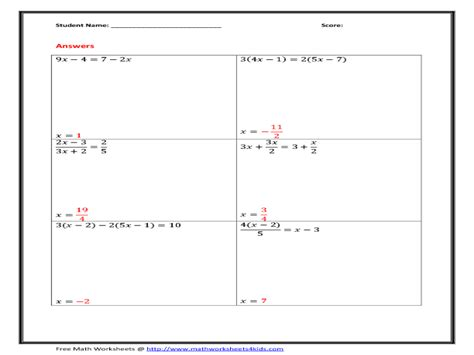 Multi Step Equations Worksheet Answers by Uncategorized One And Two Step Equations Worksheets