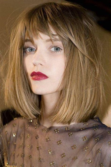 above the shoulder bob with bangs bob hairstyles shoulder length hair versatile hairstyles