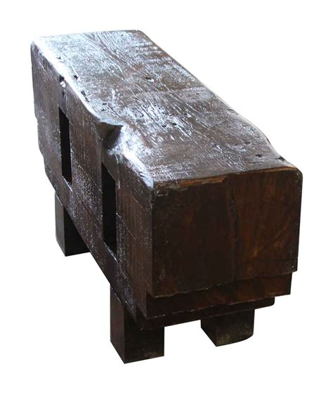 wood block bench wooden block bench olde good things