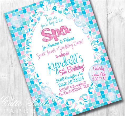 Spa Invitations Templates Free spa invitations home ideas